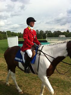 Sharon Jones as an Outrider for the Carolina and Colonial Cups- WE THANK YOU!