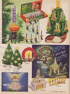 1947: Glass bubble Christmas tree lights