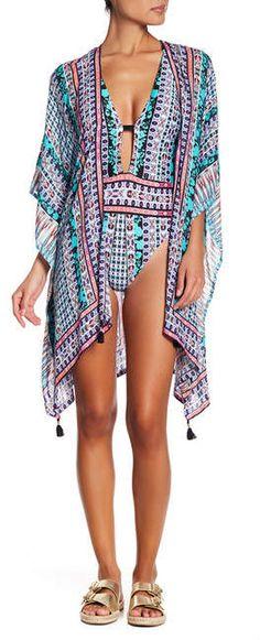518f0dda9d Nanette Lepore Kimono Cover-Up Swimsuit Cover Ups, Kimono Swim Cover Up,  Women's