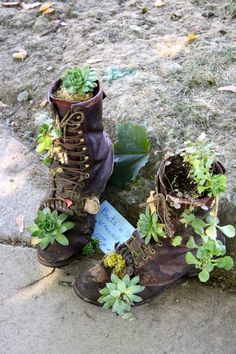 would love to do this with garretts old work boots