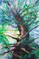 "Up, award-winning painting, 24"" x 36"" Oil/Acrylics on stretched canvas, http://www.SnejanaArt.com or http://www.FaceBook.com/SnejanaArt"