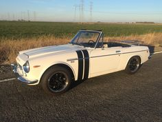 """This 1969 Datsun 1600 Fairlady Roadster is a black plate California car with some exterior modifications but a stock drivetrain. The sale includes the original steel wheels and hubcaps in addition to the fitted 15"""" Rotas. Recent maintenance has included refurbished SU-Hitachi carburetors and ne"""