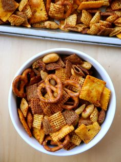 Barbecue Smokehouse Party Snack Mix Recipe Party Snack Mixes