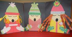 Broken link, but super cute paper craft:  Christmas carolers