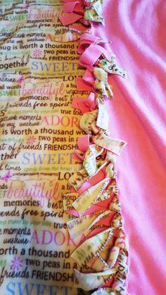 Friendship Quotes Fleece Tie Blanket