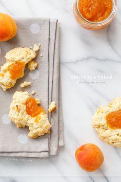 Apricots & Cream Thumbprint Scones