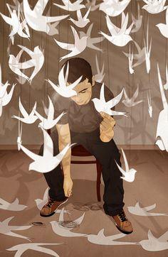 """paper birds"" by d caballero, via Flickr"