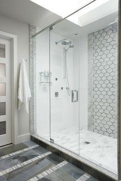The Tile Shop: Design by Kirsty: New Sarah Richardson Bath  Carrara edge piece.