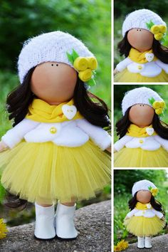 Soft Decor Doll Baby Muñecas Rag Fabric Doll Tilda Bambole Art Poupée Handmade Puppen Yellow Collection Doll Nursery Interior Doll by Olga S ____________________________________________________________________________________ Hello, dear visitors! This is handmade cloth doll