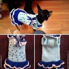 Вязаные платья для йорка