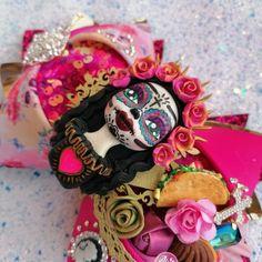 Catrina religión moño bow decorado altar