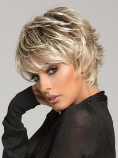 KAMI 080 Spiky Layered Short Straight Synthetic Wig with Bangs - This KAMI wig 080 features razor-finished layers for vibrant texture and easy styling. Short Shag Hairstyles, Trending Hairstyles, Short Hairstyles For Women, Hairstyle Short, Simple Hairstyles, Celebrity Hairstyles, Pretty Hairstyles, Short Razor Haircuts, Short Choppy Hair