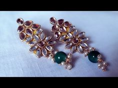 (DIY)HOW TO MAKE BEAUTIFUL EARRINGS//HANDMADE JEWELLERY//HOORIYA STYLE - YouTube