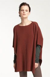 Vince Rib Knit Sweater Poncho