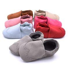 Bebek Ayakkabı Nubuk Bebek Moccasins Yenidoğan Ayakkabı Yumuşak Bebekler Beşik Ayakkabı İlk Walker Sneakers