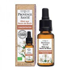 Elixir aux Fleurs de Bach Concentration Provence Santé