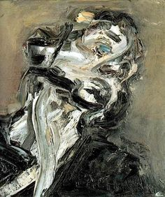 thunderstruck9:  Frank Auerbach (British, b. 1931), Head of J.Y.M. II, 1984-85. Oil on canvas.
