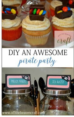 Pirate Birthday Party: shark bait, sea water, and treasure on the menu.