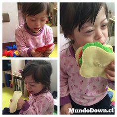 Mundo Down - Motricidad Fina - Sandwich de Fieltro