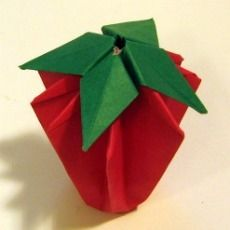 origami strawberries and grow your own on pinterest