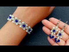 (4) Handmade Jewelry Tutorial//Bracelet & Earrings//Beads Jewelry Diy// Useful & Easy - YouTube Diy Beaded Bracelets, Making Bracelets With Beads, Bracelet Crafts, Handmade Bracelets, Handmade Jewelry Tutorials, Handmade Beaded Jewelry, Jewelry Model, Bead Jewellery, Easy Youtube
