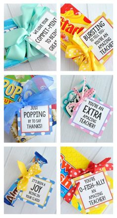 Candy bar gift tags - it's been a joy to be in your class. 20 Punny Teacher Gifts Pun-Tastic Ideas with Printables In time for Teacher Appreciation Week, take a look at these adorable Punny Teacher Gifts. Memorable Pun-Tastic Ideas with free printables. Employee Appreciation Gifts, Teacher Appreciation Week, Appreciation Note, Employee Gifts, Candy Bar Gifts, Diy Gifts With Candy, Candy Sayings Gifts, Candy Quotes, Teacher Treats