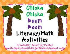 Chicka Chicka Boom Boom Literacy Centers and Math Activities for Kindergarten! Perfect for the Beginning of the Year!