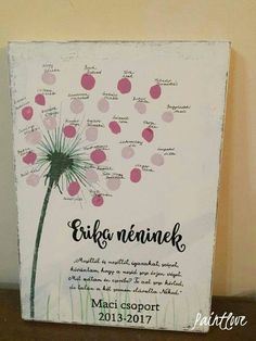 Paintlove Dekor kreatív fatábla Teachers' Day, Happy Mothers Day, Teacher Gifts, Diy Gifts, Diy And Crafts, Kindergarten, Projects To Try, Christmas Decorations, Presents
