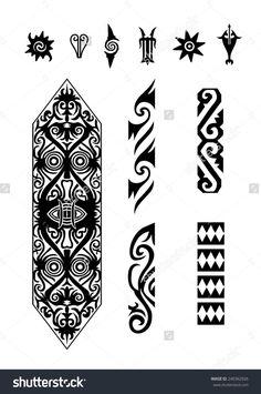 Afbeeldingsresultaat voor borneo tattoo