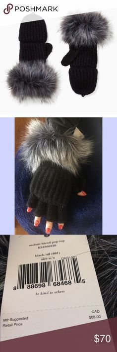 NWT KSNY Pop top mittens Mohair blend Pop top mittens NWT in time for the cold weather ❄️⛄️. One size, with faux fur accent. The beauty of these is that you never have to take them off! Just pop off the top to text, grab your wallet, answer the phone, etcetera!! MSRP $78 plus tax. PS 2nd photo is my Christmas nails design 🎄❄️ kate spade Accessories Gloves & Mittens