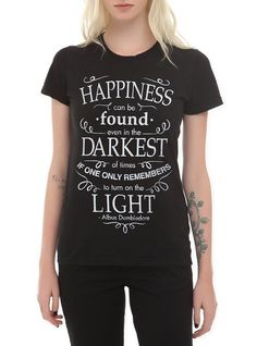 Harry Potter Happiness Quote Girls T-Shirt Size : Small