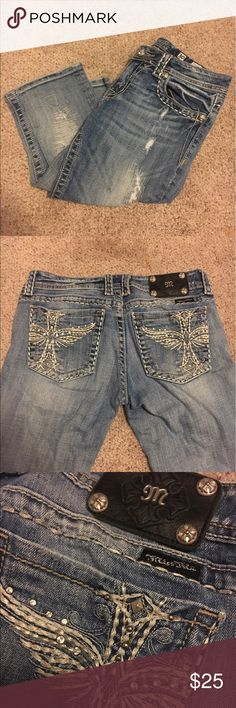Miss Me Capris Miss Me Jean capris. In great condition. Size 30. Comes from smoke free home. Miss Me Jeans