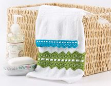 Ravelry: Easy Towel Edging pattern by Susan Lowman Crochet Classes, Learn To Crochet, Crochet Projects, Crochet Books, Thread Crochet, Crochet Doilies, Mint Creams, Crochet Home Decor, Fabric Glue