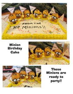 Minion Birthday Cake - LynnDavisCakes.com