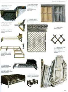 Examples of Roman furnishings.