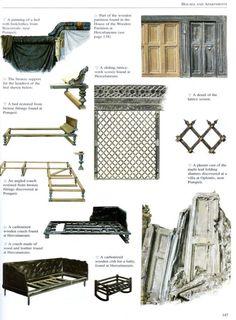 Examples of Roman furnishings.