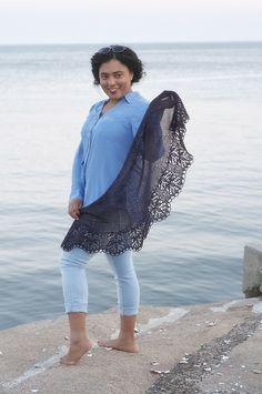 Kirsten Kapur Nefertem Lace Shawl Knitting Pattern PDF