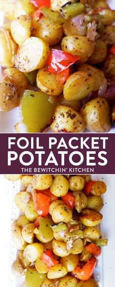 Healthy foil packet potatoes recipe. These easy bbq potatoes are a twist on one pot meals which means one thing: easy to clean! The herb and garlic seasoning is clean eating and 1 yellow in the 21 day fix recipe program.