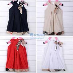 Pcs 1 bebé niñas vestidos sin mangas 2 12age para niños de algodón vestido de verano para niños ropa de en Vestidos de Ropa y accesorios en Aliexpress.com