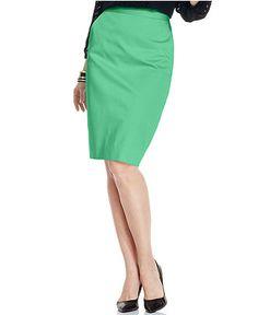 Charter Club Skirt, Slim Pencil - Skirts - Women - Macy's