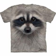20925e1d mountain tshirts mens and womens adult tee with a raccoon face design.