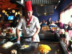 Cooking at Tairyo Japanese Steak House
