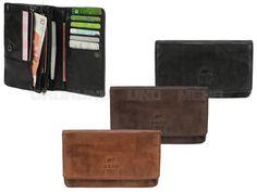 Bear Design COW LAVATO - Leder Damen Geldbörse (14KF) Geldbeutel Portemonnaie
