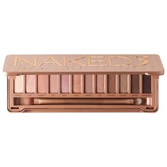 What it is: A mirrored compact packed with a dozen never-before-seen rose-hued neutrals, plus a double-ended brush and an Eyeshadow Primer Potion sampler.  What it does: Dare to get Naked all over again with Urban Decay's latest shadow palette. Nak