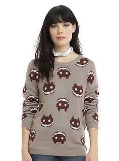 Cartoon Network Steven Universe Cookie Cat Girls Sweater, GREY