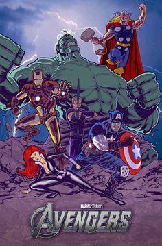 #Avengers #Fan #Art. (Avengers Poster) By: Matthewchilders. ÅWESOMENESS!!!™ ÅÅÅ+                     https://s-media-cache-ak0.pinimg.com/474x/b6/2c/e0/b62ce0087d054af9b20b339fc6e1a7ef.jpg