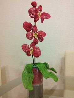 gehäkelte Orchidee Marianne