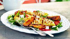 Grillattu broileri-persikkasalaatti - K-ruoka