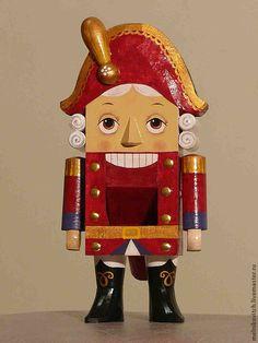 Деревянная кукла щелкунчик орехокол - деревянная кукла, кукла щелкунчик, деревянный щелкунчик, handmade toy
