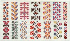 Floral border pattern / Micro macrame / alpha friendship bracelet pattern / cross stitch chart - can also be used for crochet, knitting, knotting, beading, wea Cross Stitch Bookmarks, Cross Stitch Borders, Crochet Borders, Cross Stitch Flowers, Cross Stitch Charts, Cross Stitch Designs, Cross Stitching, Cross Stitch Embroidery, Embroidery Patterns